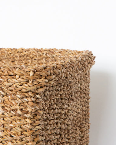 Square Cuffed Seagrass Baskets (Set of 3)