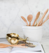 Gold Measuring Cups (Set of 4)