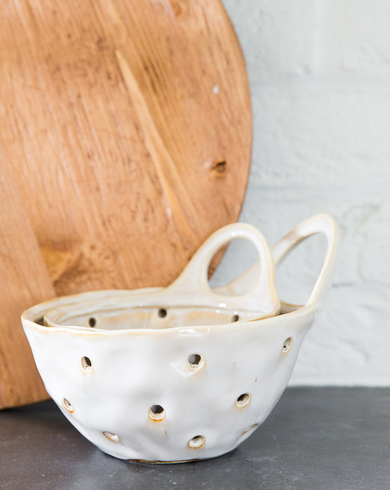 Reactive Glazed Colander