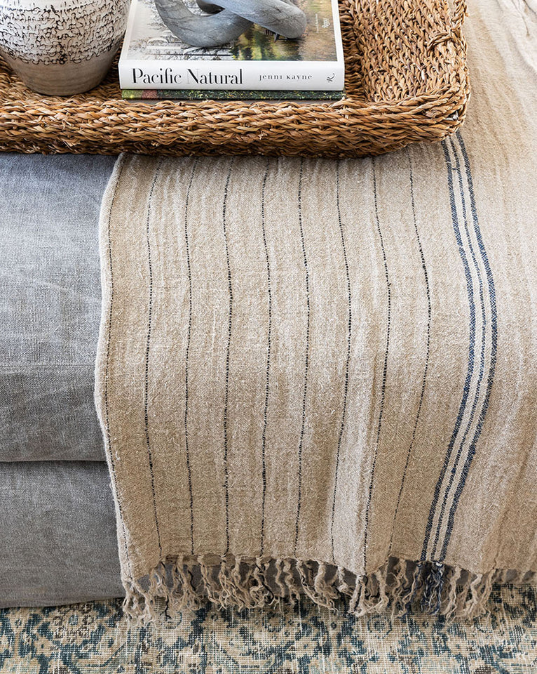 Pershing Linen Throw