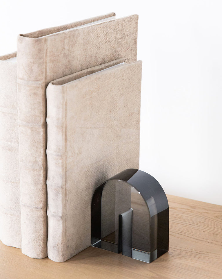 Smoke Glass Bookend