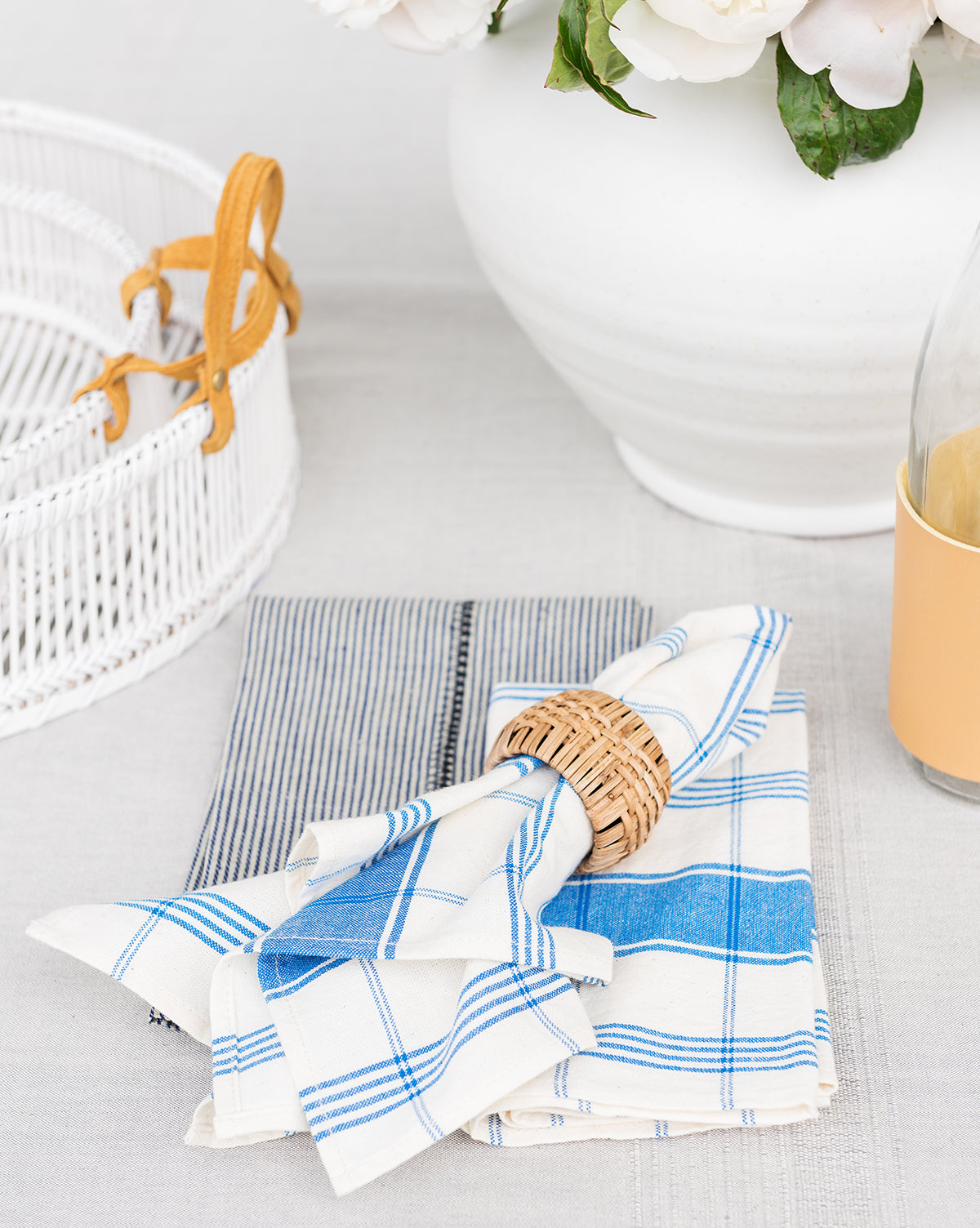 Cobalt Plaid Napkins (Set of 4)