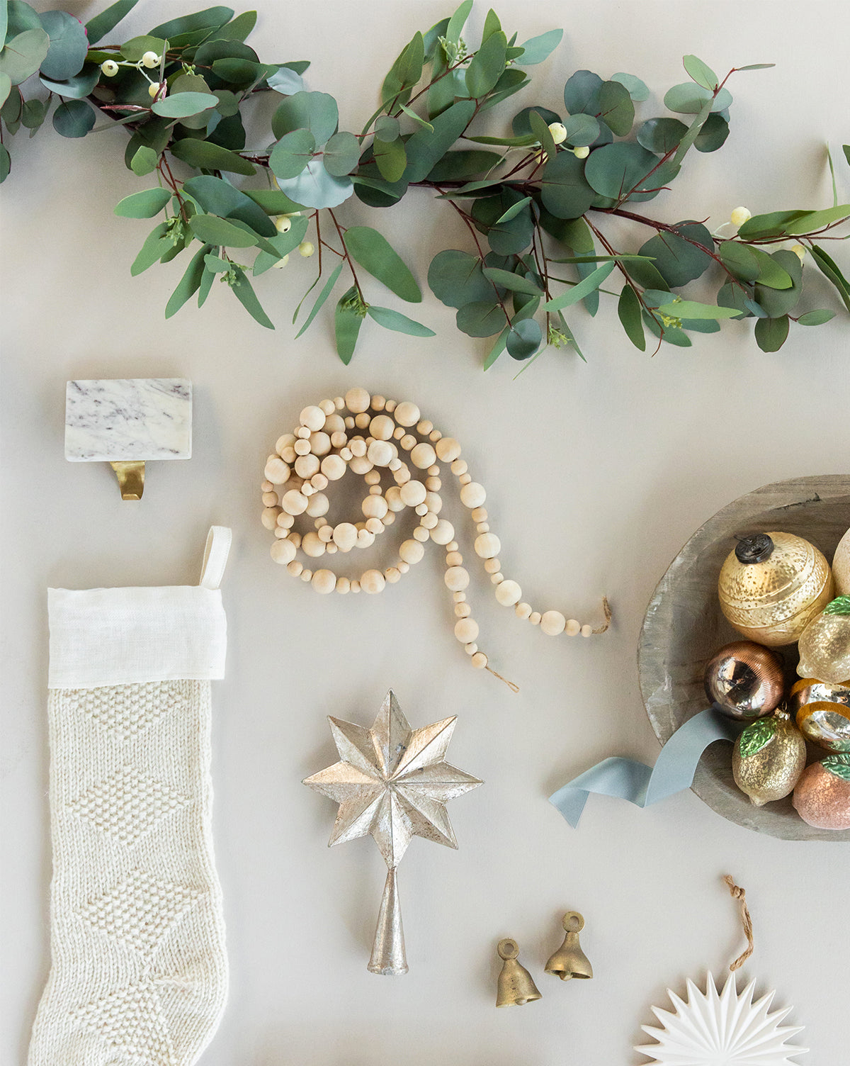 Faux Seeded Eucalyptus Garland