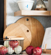Wood Handled Storage Baskets
