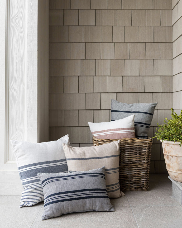 Rowan Stripe Indoor / Outdoor Pillow