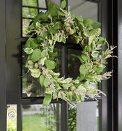 Faux Mixed Greens Wreath