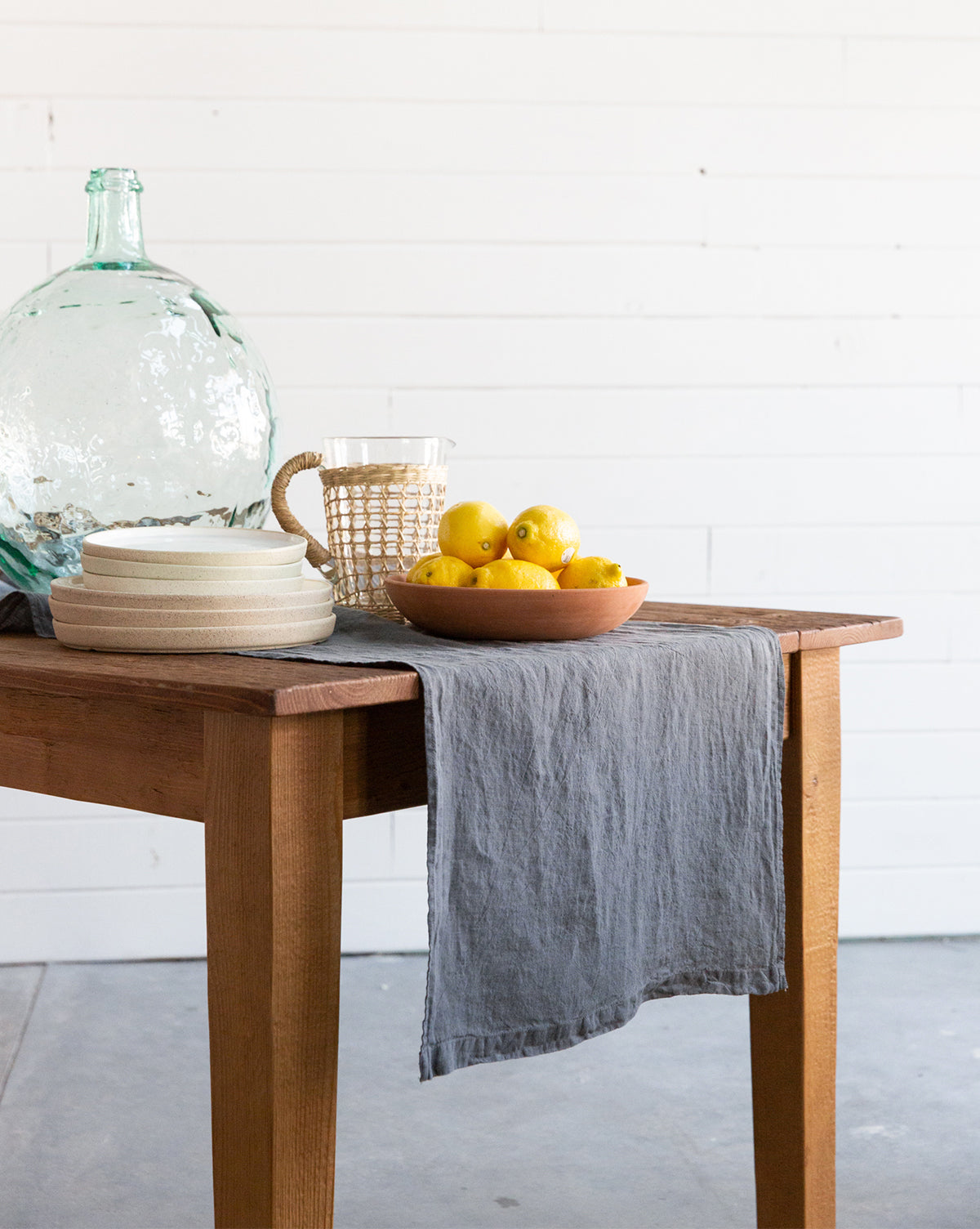 Textured Linen Table Runner