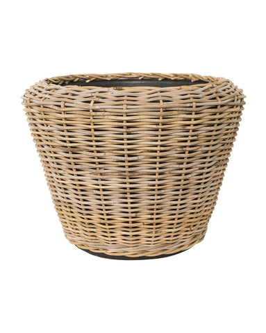 Tapered Rattan Planter