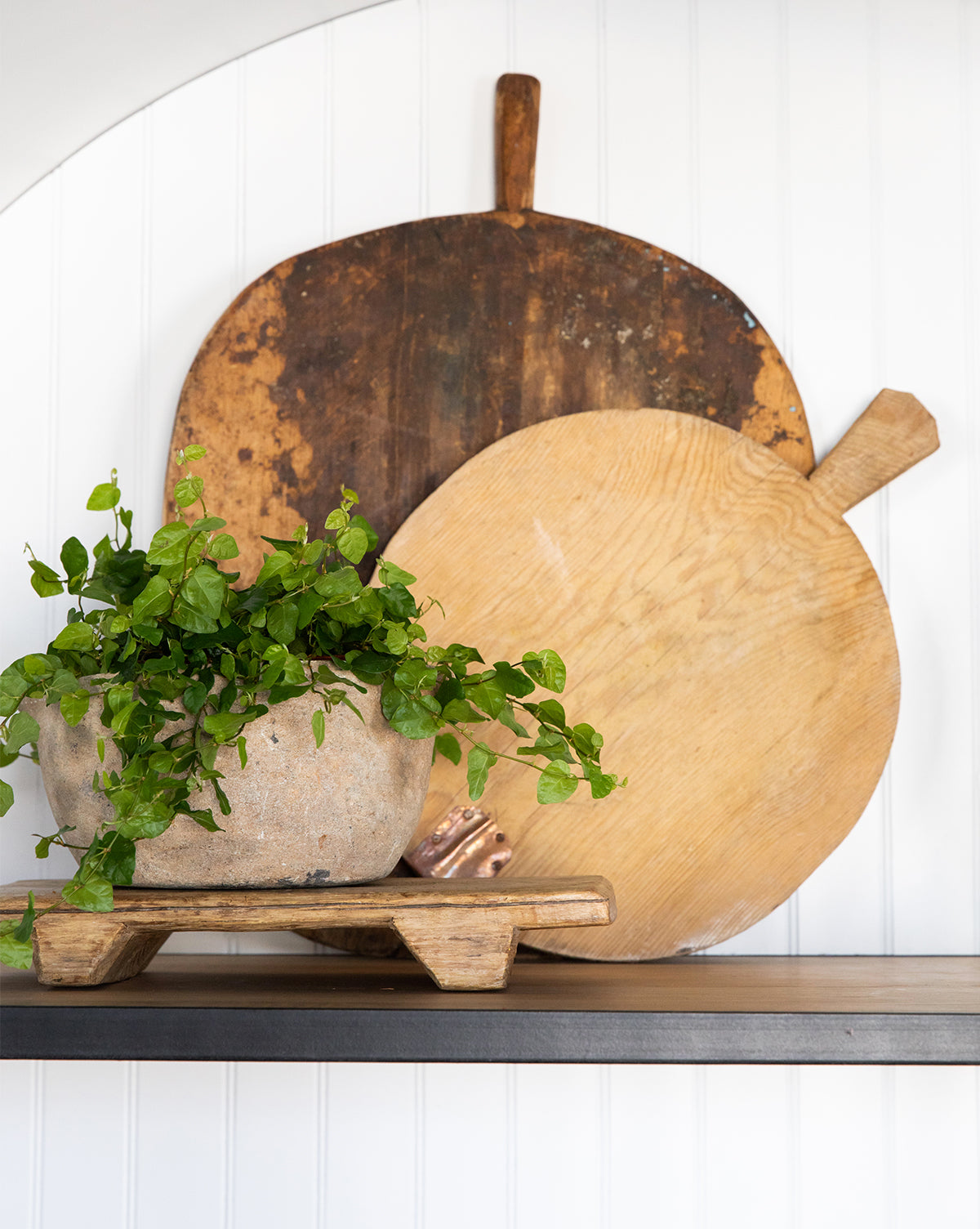 Found Wood Round Cheeseboard