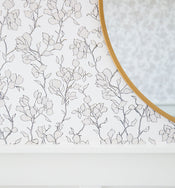 Blair Sketched Floral Wallpaper