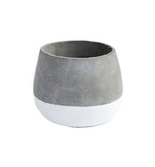 White Base Concrete Pot