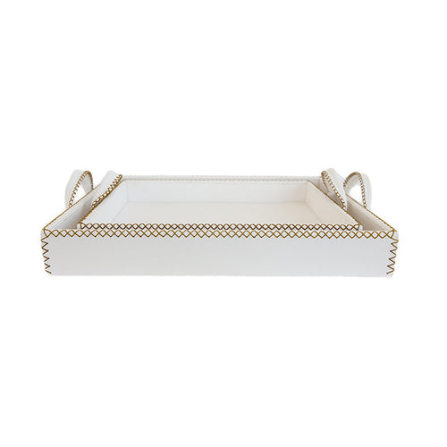 White Leather Tray