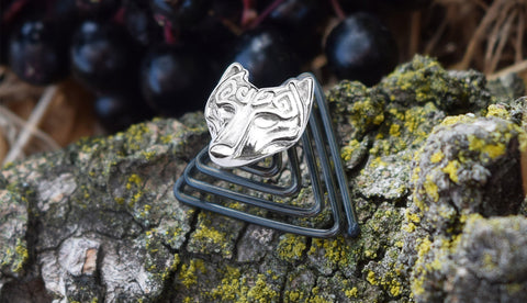 Norse mythology Viking wolf silver jewelry for the beard