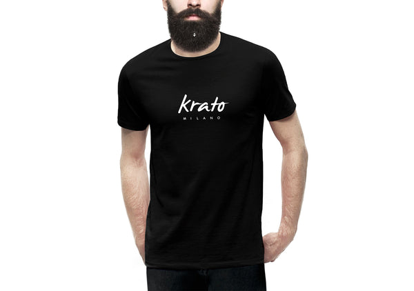 T-shirt for bearded men, krato milano logo t-shirt