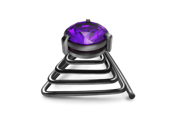 Krato Milano New Purple Beard Crystal Beard Ring