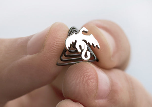 Krato Milano dragon D&D inspired jewelry for the beard 925 silver