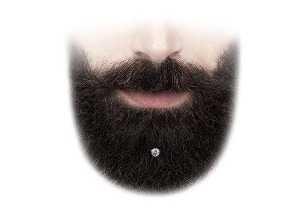 Krato Milano gold crystal beard piercing is best beard grooming jewelry
