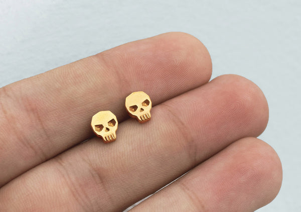 SKULL stud earrings for men