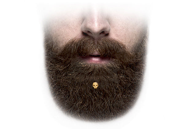 beard jewelry beards gold skull for bearded guy Krato Milano