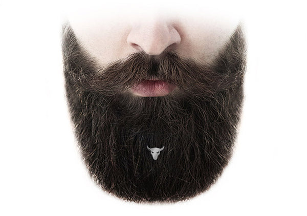 bulls piercing for bearded man the best hair decoration style by Italian fashion brand Krato Milano