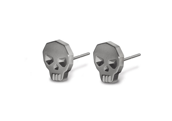 REBEL skull earrings