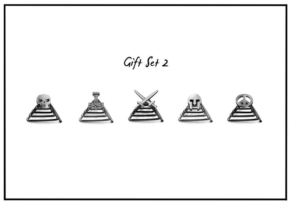 Silver Gift Set - 5 jewels
