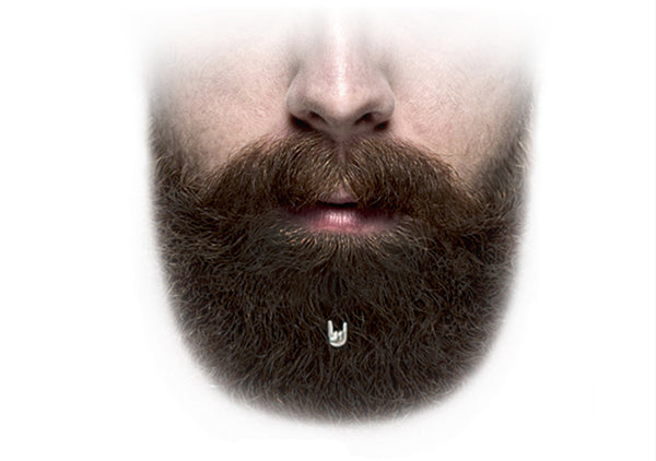 hair jewelry for bearded rocking men by Krato Milano