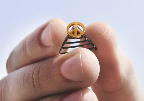 hippie gold peace sign jewellery for the beard like Gucci style