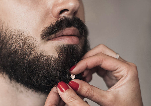 best grooming tips how to style beard and moustache when wearing beard bling crystal from Krato Milano