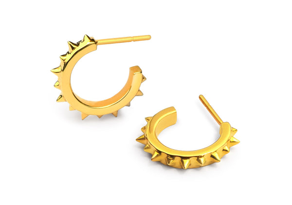 SPIKER hoop earrings gold