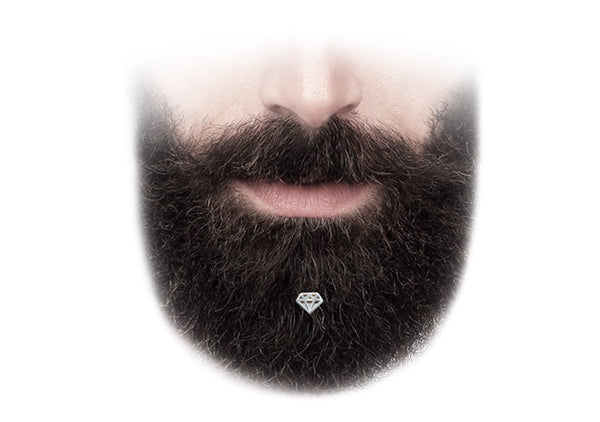 mens fashion jewelry for bearded men is luxury beard diamond bling by Krato Milano