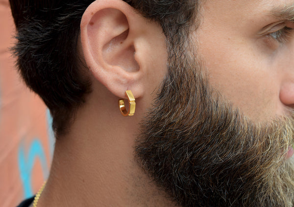 MADNESS hoop earrings for men