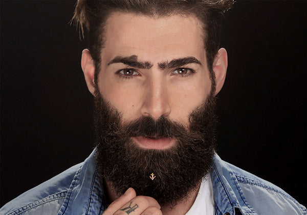 piercing for bearded men gold anchor beard care Krato Milano free shipping