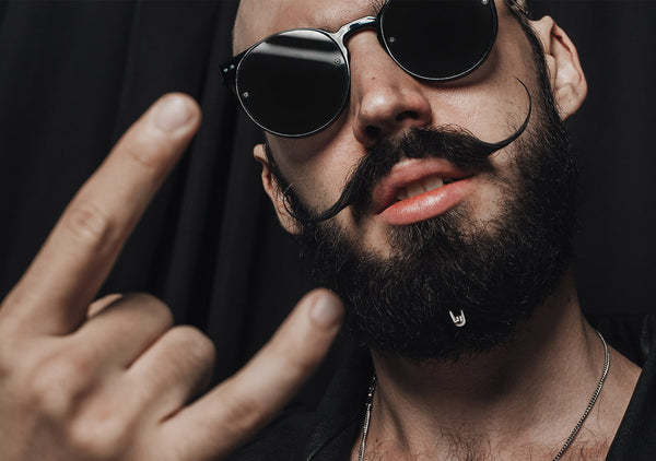 rocker beard jewelry is trending in concept stores by Italian designer Krato Milano