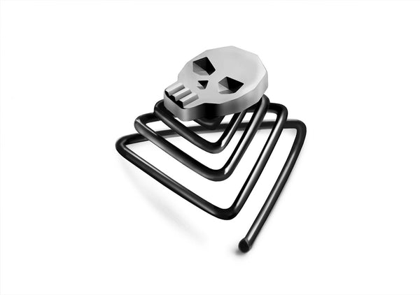 skull beard ring jewelry best gift for a bearded man Krato Milano