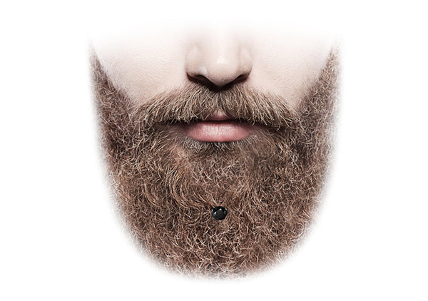 trendy hair accessories for stylish bearded men black crystal beard jewelry Krato Milano