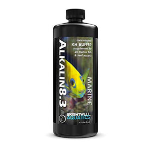 Brightwell Aquatics Alkalin8.3 - Liquid pH Buffer & Alkalinity (KH) - Builder 250mL / 8.5oz