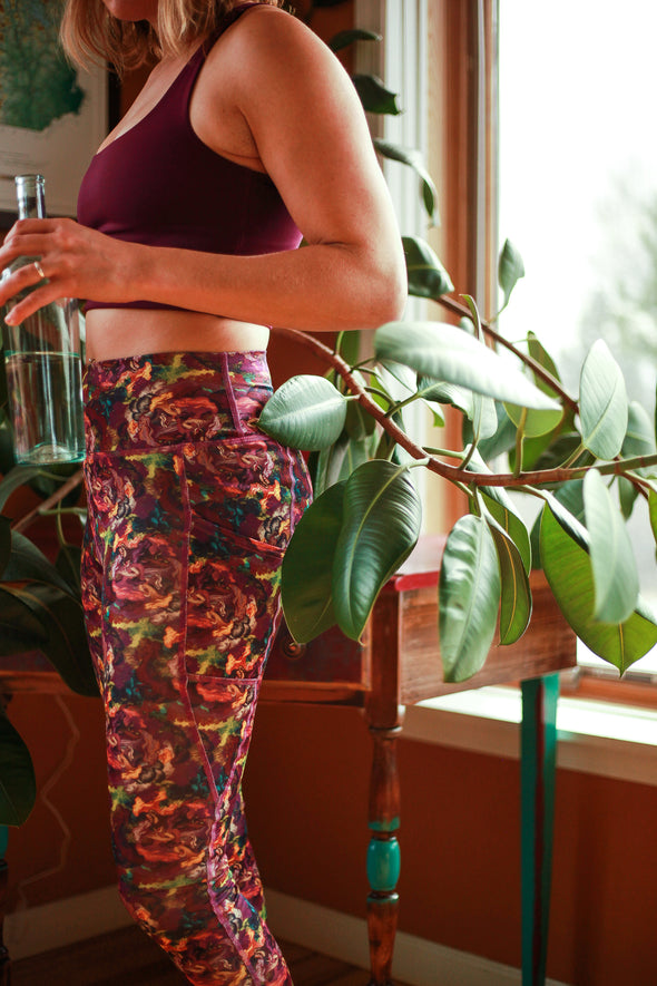 'Go There' Fleece Pant - Mycoflora Aurora