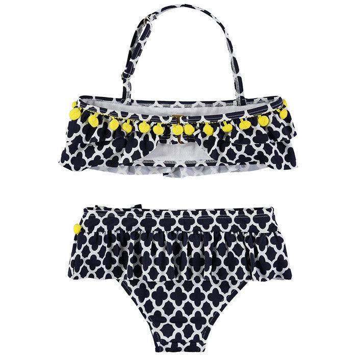 ANGEL'S FACE NAVY GREEK KEY CARMEN BIKINI