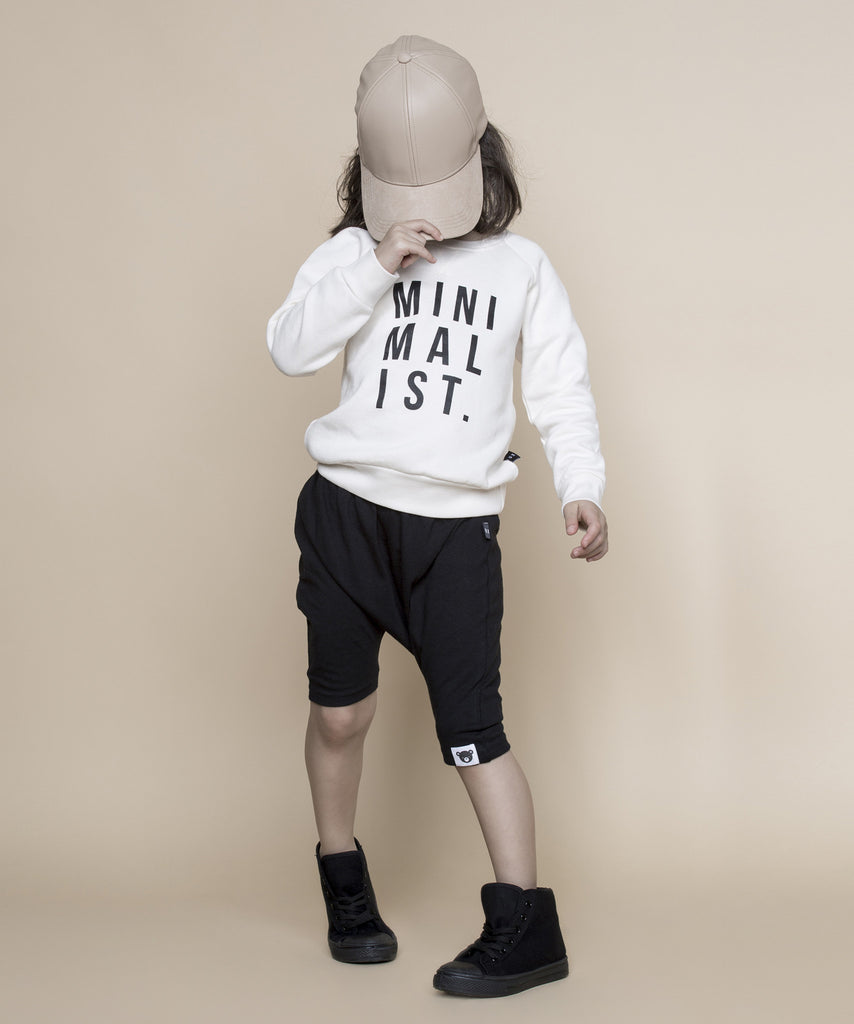 Huxbaby Mini-malist fleece sweatshirt