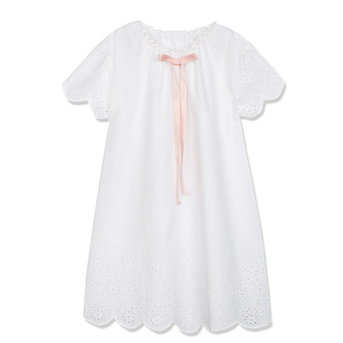 AMIKI ALINA IVORY COTTON NIGHTWEAR
