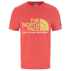 T-shirts-The North Face BLACK BOX - T-Shirt Fine Alpine Tee 2 Sunbaked Red
