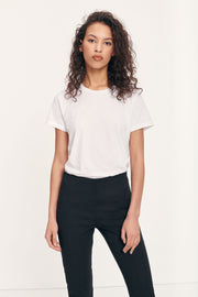 Samsoe Samsoe Femme- Solly Tee 205 Solid T-shirt White-Tops-205