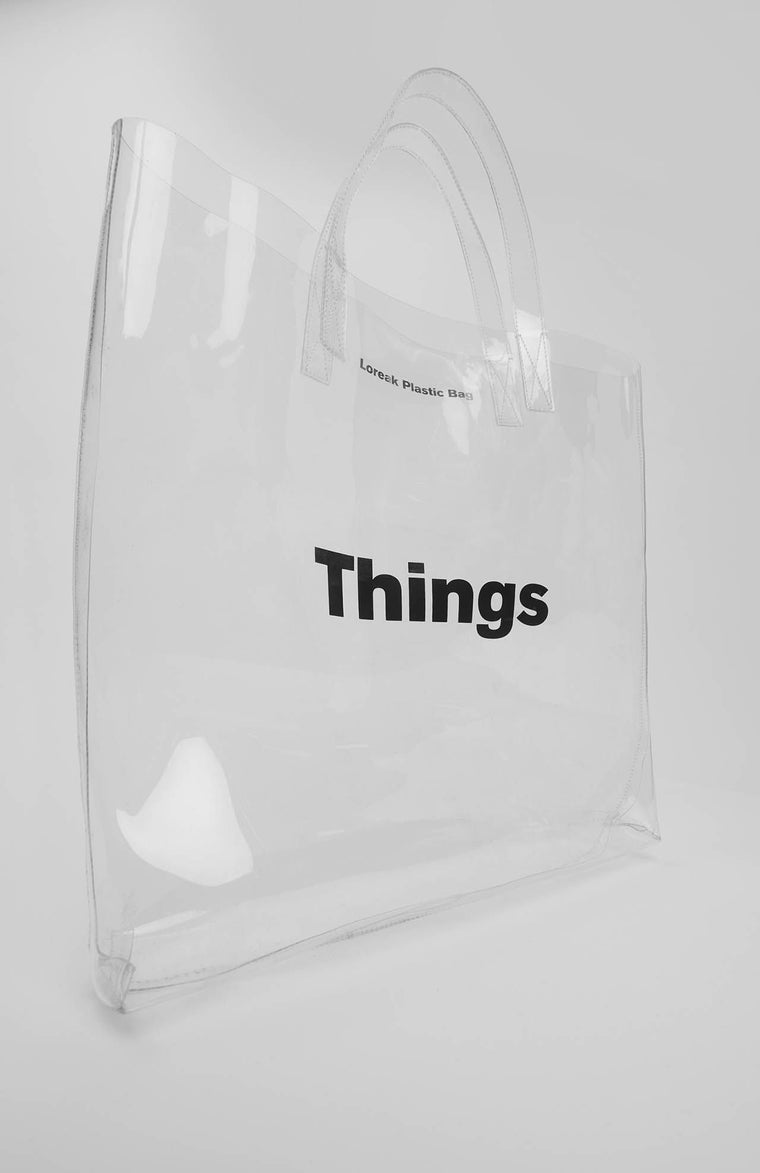 Loreak - Aike Transparent - Sac Transparent avec Inscription