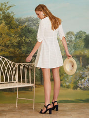 Robes-Sister Jane - Precious Petal Mini Dress - Mini-Robe Blanche en Dentelles-