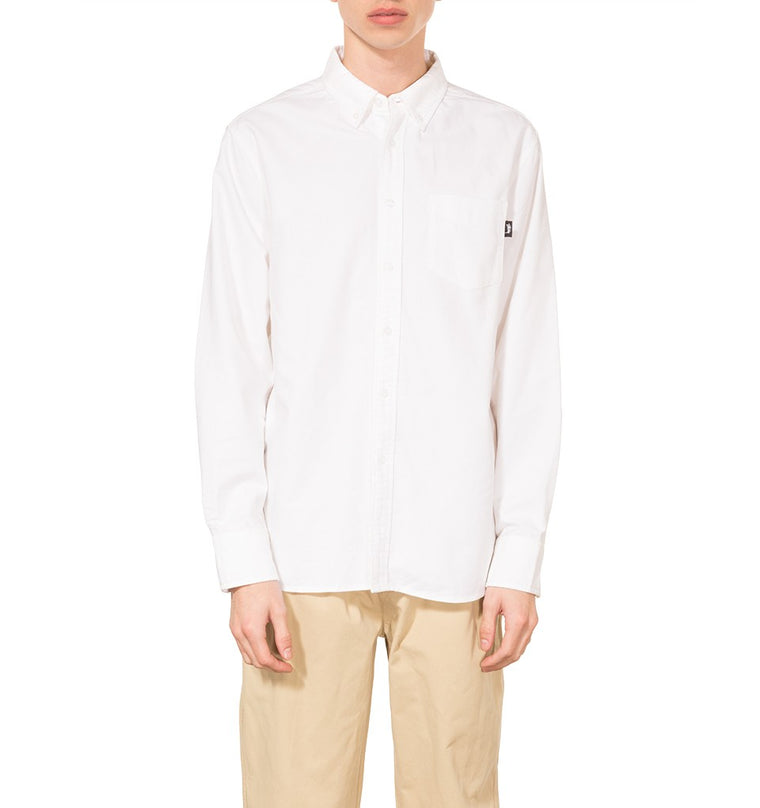 Stussy - Frank Oxford LS Shirt - White - ADG Studio