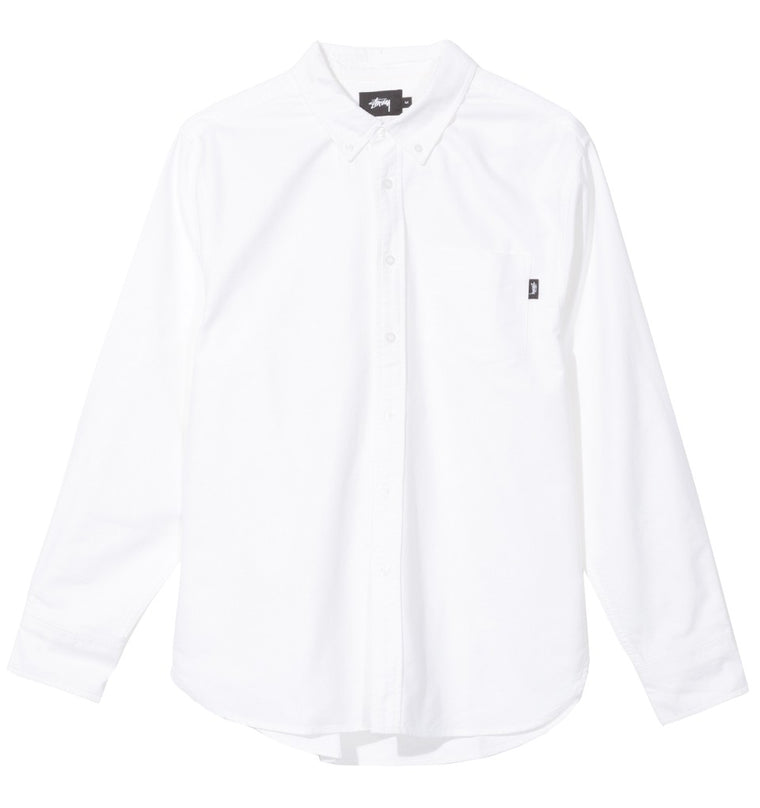 Stussy - Frank Oxford LS Shirt - White