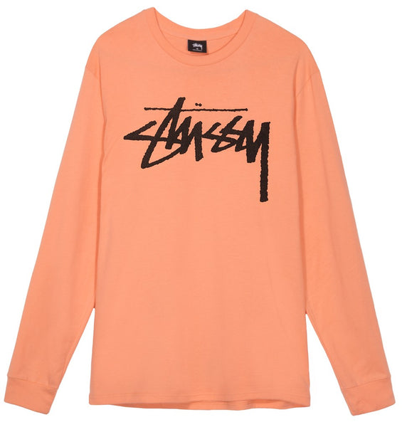Stussy - Old Stock LS tee - T-shirt manches longues rose saumon