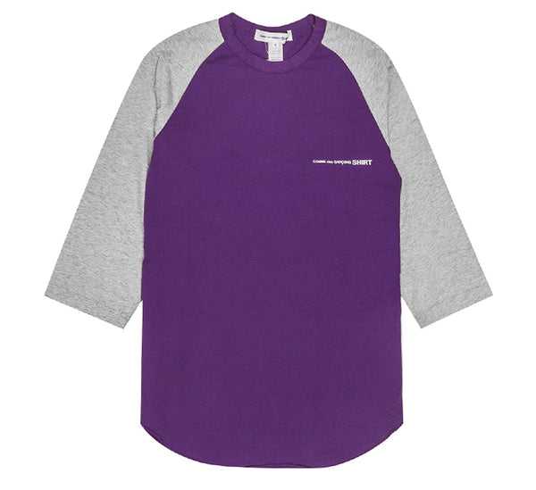 Comme Des Garçons SHIRT - T-shirt sleeve 3/4 grey and purple - ADG Studio