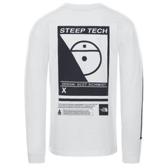 T-shirts-The North Face - Steep Tech Long Sleeve Tee White - UNISEXE